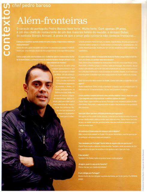 Chef Pedro Barroso no Armani Dubai