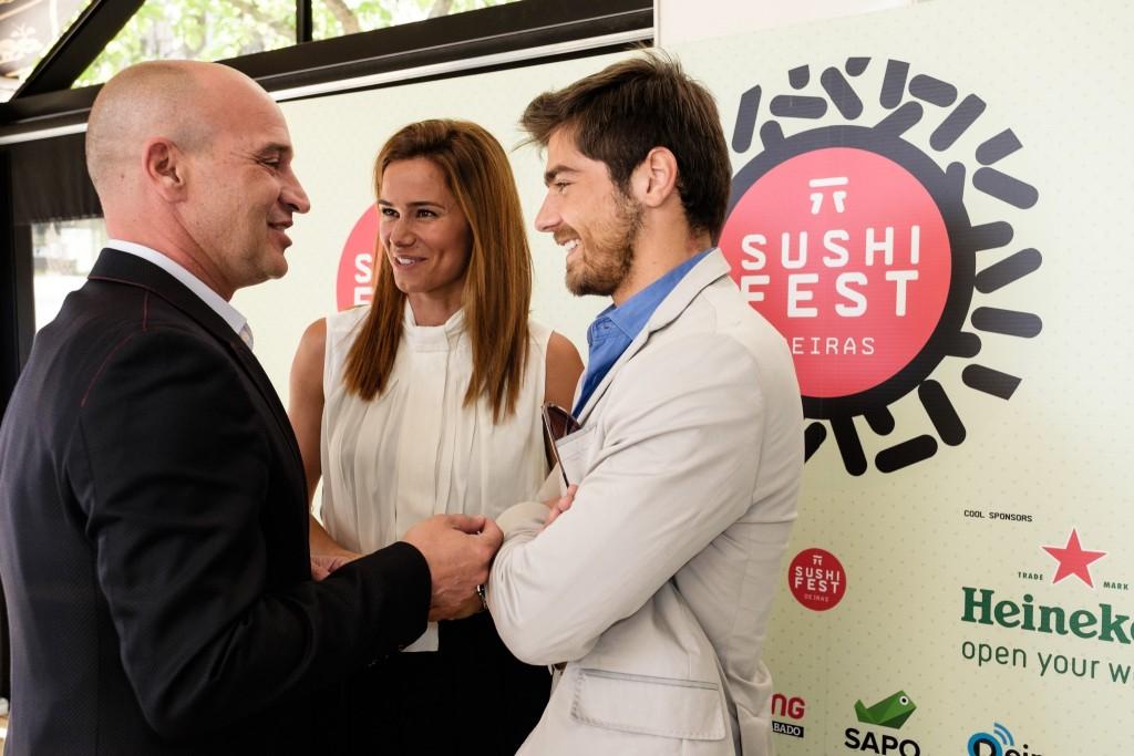 Sushi Fest_Nuno Graciano, Cláudia Vieira e Lourenço Ortigão_créditos Agência Zero